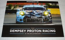 Le Mans 2017 WEC Dempsey Felbermayr Proton Porsche 911 GT3 RSR #77 Signed Card