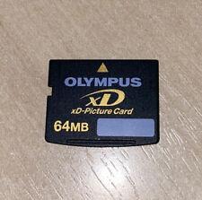64MB FUJIFILM XD MEMORY CARD STANDARD TYPE FUJI FINEPIX/OLYMPUS CAMERAS 64 MB