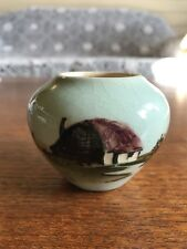 Vintage Australian Pottery Signed Martin Boyd Small Hand Painted Vase