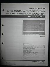 Yamaha Mixing Console Service Shop Manual Schematics Parts List MX200 8 12 16 24