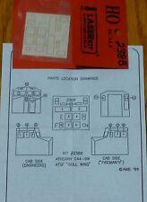 American Model Builders, Inc HO #238B Window set: for Athearn C44-9W Gull Wing