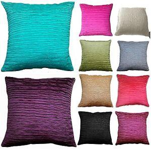 "New VIVA Silk Shiny Crinkle Krinkle Luxury Cushion Covers 45 X 45 CM/18"" X 18"""