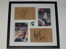 Keith Appling Gary Harris signed floorboards Michigan State Basketball COA