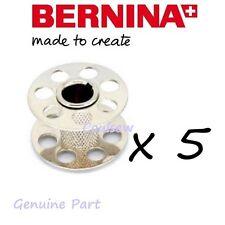 BERNINA 5 x GENUINE BERNINA SEWING MACHINE STANDARD METAL QUALITY BOBBINS