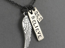 FLY 26.2 - I BELIEVE~Marathon Necklace with 18 inch gunmetal chain~26.2 Marathon