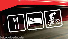 Eat Sleep Downhill_ Mountain Bike Downhill Racer DH Vinyl Decal Sticker CUSTOM