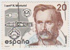 (SPA127) 1987 Spain 20p black & brown fine used ow2928