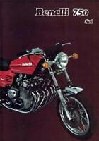 1973 Benelli 750 Sei 6 cylinder original 4 page USA sales brochure in English