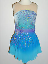 CUSTOM MADE TO FIT FIGURE ICE SKATING /TWIRLING /BATON COSTUME