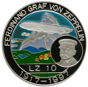 BENIN 500 Francs ND(1997) Silver Proof 'Graf Von Zeppelin' + Philatelic Cover