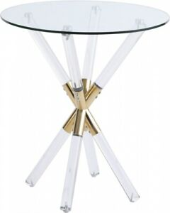 Meridian Furniture Mercury End Table Base 284-E Gold (Glass Table not Included)