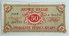 50 Francs 1946 Frank Armée Belge Belgisch Leger Belgium Army #F5#