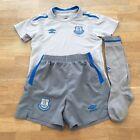UMBRO Everton FC 2017-18 Kids Football Away Kit Size 4-5 Years, Grey PLEASE READ