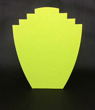 Set of 5 Jewellery Display Card Busts [B] Zesty Lime Green