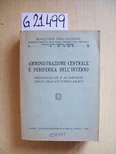 MINISTERO DELL'INTERNO - AMMINISTRAZIONE CENTRALE E PERIFERICA DELL'INTERNO