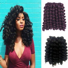 10inch Jumpy Sythetic Wand Curly Crochet Twisted Burgundy Braids Hair Extension