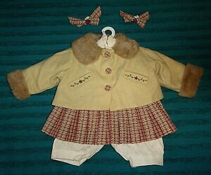"""NEW TAGGED ADORA 22"""" DOLLS FALL COAT/SKIRT OUTFIT"""