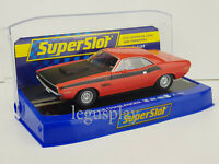 Slot Car Scalextric Superslot H4065 Dodge Challenger Red & Black