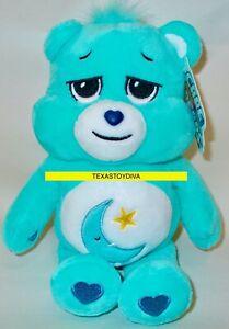 "9"" Care Bears Bedtime Bear Stuffed Bean Plush Moon Star Dreams Are My Thing New"