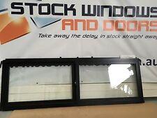Aluminium Sliding Window DOUBLE GLAZED 600h x 1810w Black  (IN STOCK) BRAND NEW