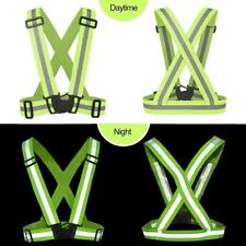 Adjustable Reflective Vest High Visibility Safety Straps Cycling Walking Running