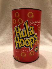 VINTAGE 1994 KP Original Hula Hoops Crisps 150 gram tub / can (empty)