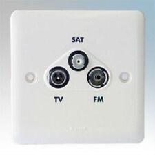 Legrand Synergy 730043 Screened Triplexer Satellite TV FM Triple Socket White