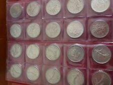 5 francs   Argent  lot de 20 pièces