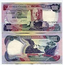 Angola 1972 1000 Escudos P103 VF Banknote Money Marechal Carmona