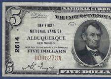 NM 1929 $5   ♚♚ALBUQUERQUE,NEW MEXICO♚♚   PCGS VF 30 PPQ
