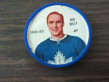 1961-62 Salada plastic coin # 49 Red Kelly (B23) Toronto Maple Leafs
