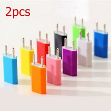 2X Travel USB Port 5V 1A Wall/Car Charger Adapter For iPhone Samsung HTC EU Plug
