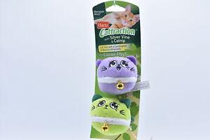 Hartz Cattraction Macaron Mice w/ Silver Vine & Catnip, Purple / Green