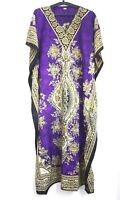 Kaftan Dress Long Size Loose Casual Boho Womens Kimono Sleeve Maxi Dress Caftan