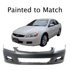 Painted to Match - Fits 2006 2007 Honda Accord Sedan Front Bumper