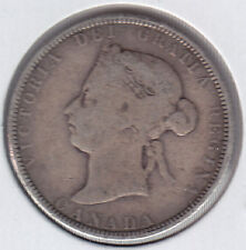 1886 Canada Twenty five Cent Silver Coin - VG