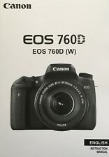 Canon EOS 760D Manual - Printed & Professionally Bound Size A5 - Colour Pages