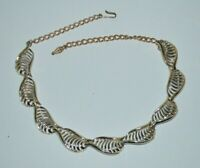 Vintage gold tone articulated necklace, probably Coro