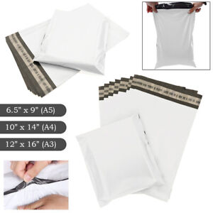 Premium Strong White Plastic Mailing Postal Poly Pack Postage Bags UK ALL SIZES