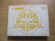 Officina MANUALE SERVICE MANUAL YAMAHA XZ 550 Manuel D 'Atelier