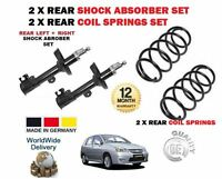 FOR SUZUKI LIANA 1.3 1.4 1.6 2001-> 2x REAR SHOCK ABSORBERS + 2x COIL SPRINGS