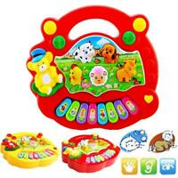 Musical Educational Animal Farm Piano Developmental Music Toy for Baby Kids GA