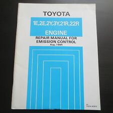 Repair Manual Toyota Emission Control Motor 1E 2E 2Y 3Y 21R 22R Land Cruiser etc