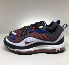 Nike Air Max 98 Gunsmoke - UK 8.5 - White Violet Red - Mens Shoes - 640744 012