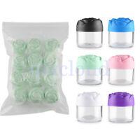 12Pcs/Lot 20g Rose Clear Empty Jar Lip Balm Pots Screw Salve Sample Containers