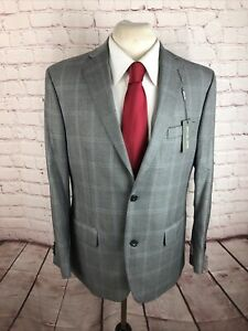 *NWT* Michael Kors Men's Grey Plaid Polyester Blazer 42R $458