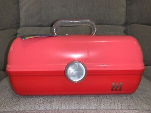 Caboodles - On The Go Girl Retro Makeup Cosmetic Travel Storage Case Red Pink
