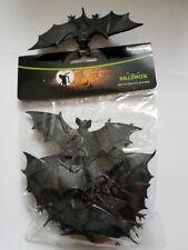 8 Stück Fledermaus Fledermäuse schwarz Deko Halloween Horror 12 x 5 cm