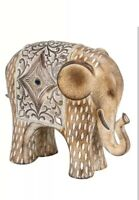 Wooden Jewel Elephant Decor Ornament Figurine Statue Rustic Home Furniture GIFT
