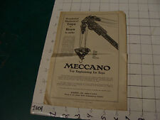 Original MECCANO 1918 -  4 page booklet, i show all the pages, Eiffel back